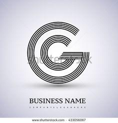 Letter GG linked logo design circle G shape. Elegant black colored letter symbol. Vector logo design template elements for company identity. - stock vector