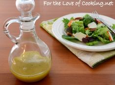 Maple-mustard vinaigrette...seriously one of the best dressings (and easy!) I've ever made. I was so good I wanted to drink the leftovers (but didn't)