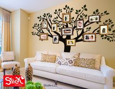 Family Tree Wall Decal Removable Family Tree by StickStudioLLC, $120.75