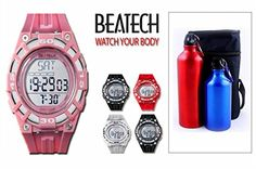 Ovente Beatech Collection BH5000P Heart Rate Monitor Watch and Finelife Camping Bottle Set >>> You can get additional details at the image link. (Amazon affiliate link)