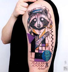 Ms Kudu raccoon tattoo