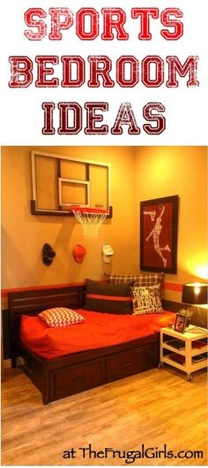 Creative Sports Bedroom Theme Ideas! ~ at TheFrugalGirls.com ~ check out these fun home decor tips for decorating bedrooms for the sports fan! Fisher needs this