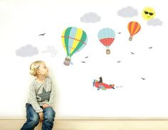 Children's Wall stickers Hot Air Balloons
