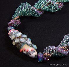 Summer Southwest Sunset Dutch Spiral Cellini Bead Woven by 4uidzne