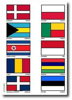 ATLAS des Drapeaux du Monde à Colorier / 31 à 40