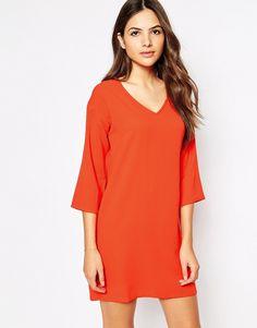 Vero+Moda+V+Neck+Shift+Dress