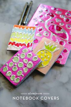 Cool Crafts for Teen Girls - Best DIY Projects for Teenage Girls - Aluminum Notebook Covers - diyprojectsfortee...