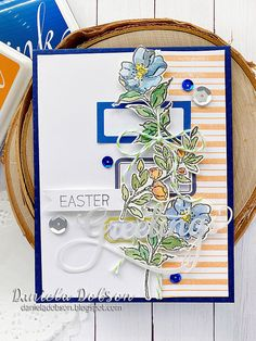 create your everyday: { Impression Obsession DT Challenge – Easter Fun } Handmade Flowers, Handmade Crafts, Impression Obsession Cards, 2015 Planner, Celebration Day, Halloween 4, My Scrapbook, Travelers Notebook