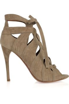 Alaia Heels in Cutout Suede, gorgeous details, real show-stoppers!