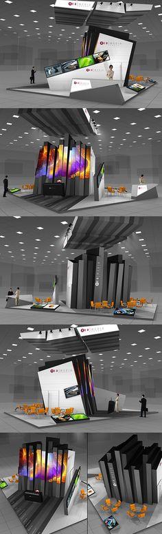 [sem paredes] REDMEDIA exhibition stand on Behance Exhibition Stall, Exhibition Booth Design, Exhibition Display, Museum Exhibition, Exhibit Design, Trade Show Design, Display Design, Displays, Stage Set