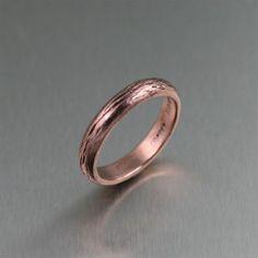 amazing handmade copper jewelry / Handmade Bark Copper Ring