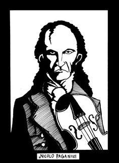 Nicolo Paganini by borkum.deviantart.com on @deviantART