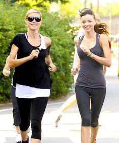 Workout Inspiration: Heidi Klum and Miranda Kerr Running