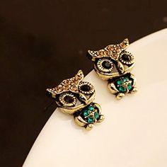 2016 Hot Sale Fashion Style Owl Rhinestone Cute Vintage Ear Stud Earrings Good-looking AP 28♦️ SMS - F A S H I O N 💢👉🏿 http://www.sms.hr/products/2016-hot-sale-fashion-style-owl-rhinestone-cute-vintage-ear-stud-earrings-good-looking-ap-28/ US $0.53