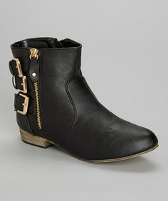 Love this Black Packard Back Buckle Boot by Bucco on #zulily! #zulilyfinds
