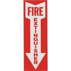 Fire Extinguisher Below Arrow Sign Vinyl Sticker wall, window, business