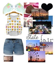 """State Fair Love"" by fluffbunny231 ❤ liked on Polyvore featuring LE3NO, New Balance, statefair and summerdate"