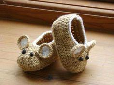 Терлички за бебчета тип мишче