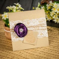 Beautiful handmade wedding invitations.