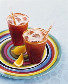 Iced Coffee with Orange Juice