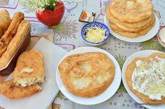 Langoși ca la langoșerie umpluți cu brânză și mărar | Savori Urbane Cornbread, Quiche, Hamburger, Recipies, Deserts, Urban, Cooking, Ethnic Recipes, Food