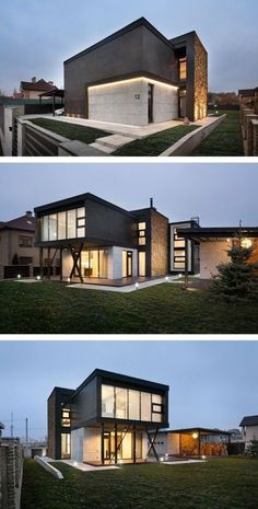 Modern style homes exterior modern house architecture styles beautiful designs inside modern contemporary exterior house design Architecture Design, Beautiful Architecture, Residential Architecture, Contemporary Architecture, Container Architecture, Modern Contemporary, Modern House Plans, Modern House Design, Modern Exterior