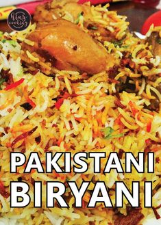 Here is popular Pakistani biryani recipe with chicken. if you are looking how to cook biryani in easy way then must try this recipe. Chicken Biryani Recipe Pakistani, Pakistani Rice Recipes, Beef Biryani Recipe, Pakistani Chicken Recipes, Biryani Chicken, Pakistani Dishes, Indian Food Recipes, Indian Dishes, Chicken Rice Recipes