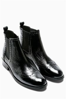 Brogue chelsea boots, Boots, Leather