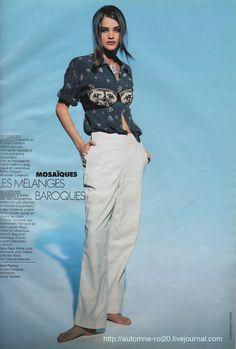 """Elle France June 11th, 1990 """"Mosaïques Orientales"""" Model: Helena Christensen Photographer: Friedmann Hauss Stylist: Carine Roitfeld Hair: Ward Makeup: Marie-Josée Lafontaine"""