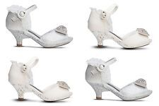 Girls Toddlers Youth Pageant First Communion Wedding Little Heels Shoes