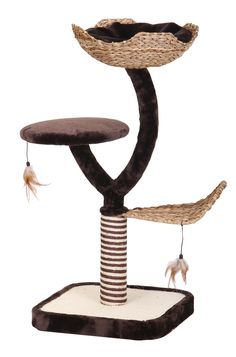 Modern Cat Furniture with Basket & Toys