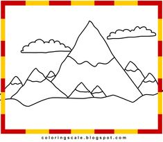 Pics For > Simple Mountain Coloring Pages