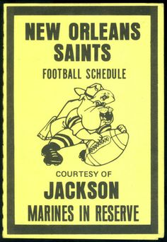 1978 NEW ORLEANS SAINTS JACKSON MARINE CORP FOOTBALL POCKET SCHEDULE FREE SHIP