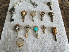 Carol Peery necklaces from mom's jewelry and old keys! Old Keys, Mom Jewelry, Necklaces, Drop Earrings, Fashion, Moda, Antique Keys, Mommy Jewelry, Fashion Styles