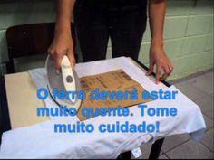 Estampando camisetas com lixa de parede - YouTube