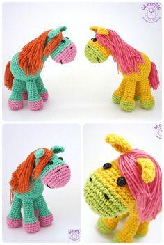 Crochet Horse - Free Crochet Pattern - Pattern In Turkish - See https://translate.google.com/translate?sl=auto&tl=en&js=y&prev=_t&hl=en&ie=UTF-8&u=http%3A%2F%2Famigurumiaskina.blogspot.com.tr%2F2014%2F03%2Famigurumi-sevimli-at-loosha-yapls.html For English Pattern Translation - (amigurumiaskina.blogspot)