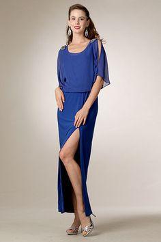 545226867d Elegant Chiffon Cold Shoulder with Embellishment Side Slit Evening Gown ·  Designer Prom DressesCheap Prom DressesShort Bridesmaid DressesHomecoming  ...