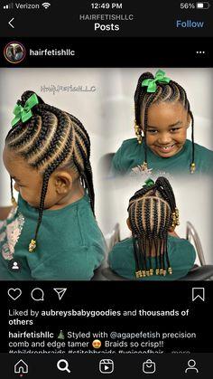 Black Kids Braids Hairstyles, Little Girls Natural Hairstyles, Toddler Braided Hairstyles, Toddler Braids, Lil Girl Hairstyles, Kids Braided Hairstyles, Braids For Kids, Braids For Black Hair, Girls Braids