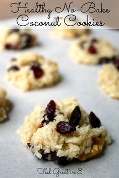 no-bake coconut cookies // quick and easy to throw together, refined sugar-free