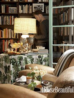 color combo -- abode love: a man's home is his wife's castle: peter dunham's fig leaf textile