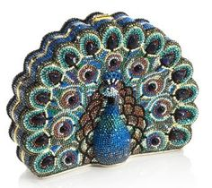 Judith Leiber Peacock minaudiere
