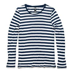 Basic Stripe Tee L/S - Navy/White - BAAM Labs - 4