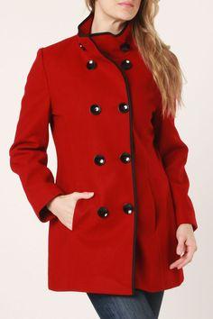 Esprit Britney Coat In Red