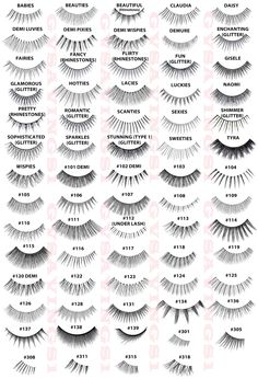 This could mark the beginning of false lashes-hoarding... GUIDE to ARDELL LASHES :: So handy! | #ardell #falsies #fakelashes