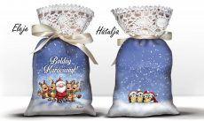 Karácsonyi álom zsák levendulával, Mikulás és szarvasok