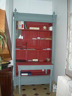Ou comment transformer un bureau am ricain en meuble pour for Transformer une armoire en bureau
