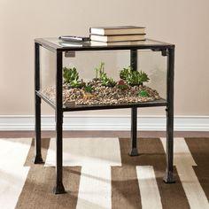 Harper Blvd Display/ Terrarium Side/ End Table (OS2688), Black