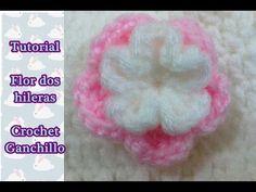 Paso a paso flor a crochet ganchillo - YouTube