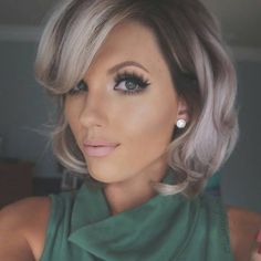 """""""* Shadowed Blonde... #grannyglam by @shear_envytupelo #behindthechair Color by Amber Make-up by @_sassafrass"""""""