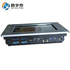 Endüstriyel bilgisayar intel atom n2600 1.6 ghz ile 10.4 inç gömülü panel pc infrare dokunmatik ekran sanayi pc çözünürlük 800x600
